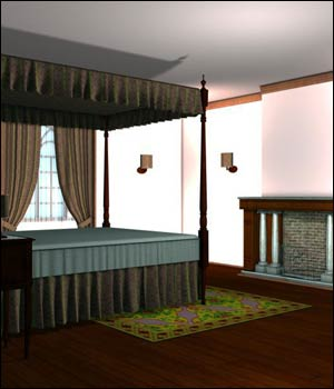 Classic Bedroom (Poser, Vue & OBJ) 3D Models RPublishing