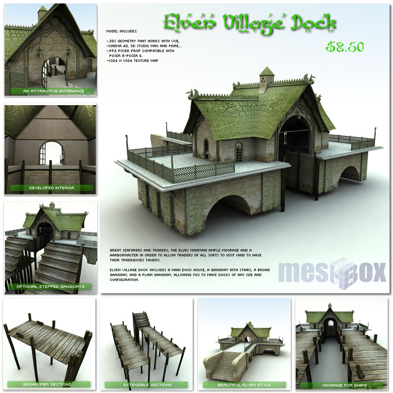 Elven Village Dock 1.0 (E1V206-3DS)