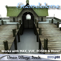 Elven Village Dock 1.0 (E1V206-3DS) 3D Models chikako