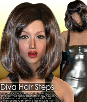 Diva Hair Steps 3D Figure Essentials Shahara