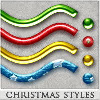 DW - Christmas Styles for Photoshop 2D 3D Models DreamWarrior