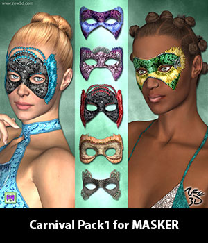 Carnival Pack1 for MASKER 3D Figure Assets zew3d