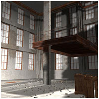 Old Factory (Poser, Vue & OBJ) 3D Models RPublishing