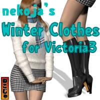 nekoja's Winter Clothes for Victoria V3 3D Figure Essentials nekoja