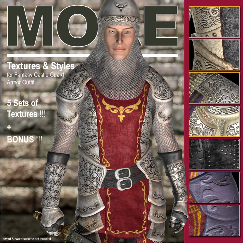 MORE Textures & Styles for Fantasy Castle Guard