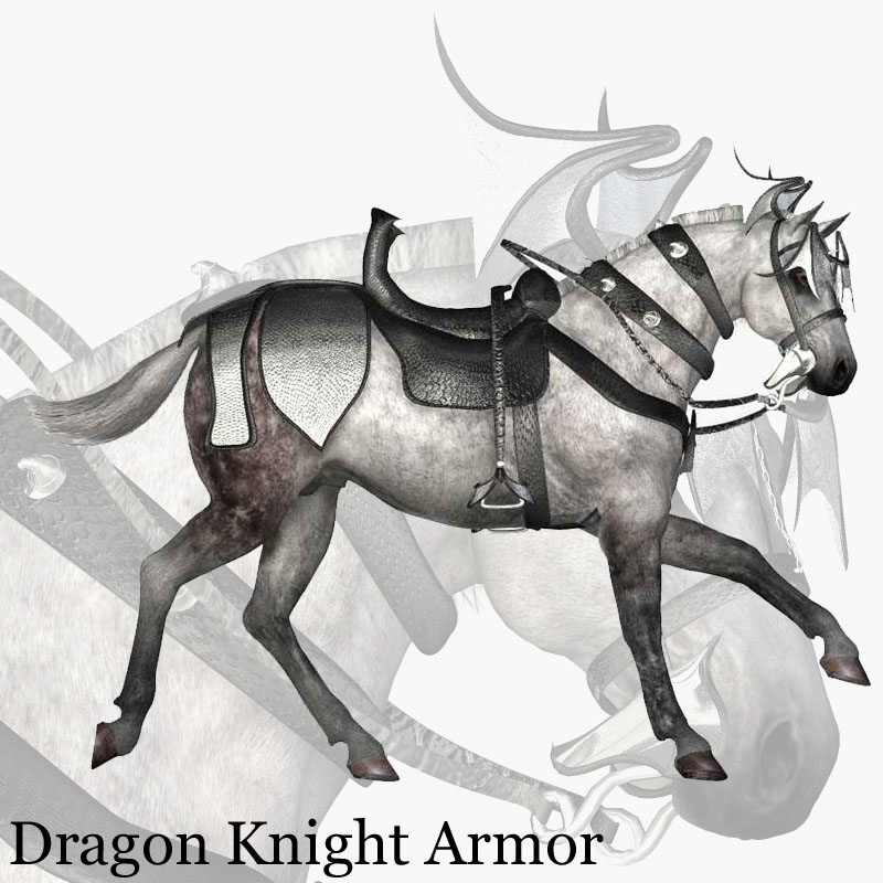 Dragon Knight Armor for Mil Horse