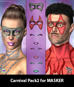 Carnival Pack2 for MASKER 3D Figure Assets zew3d