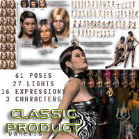 Y3D COLLECTION Poses,Lights,Faces and Expressions  Yanelis3D