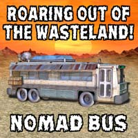 Roaring Out of the Wasteland -  Nomad Bus Props/Scenes/Architecture Transportation Themed kalebdaark