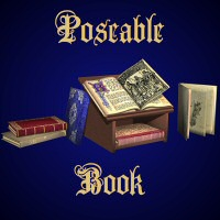 Poseable Book 3D Models 3D Figure Essentials 3dCritter