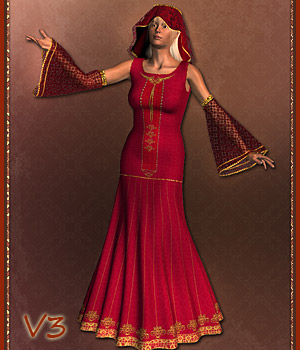 Aleena - Dynamic Clothing Set 3D Figure Assets karanta