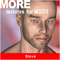 MORE Textures for M3/D3 - Steve 3D Models 3D Figure Essentials motif