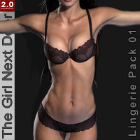 GND2: Lingerie 01 3D Figure Essentials Blackhearted