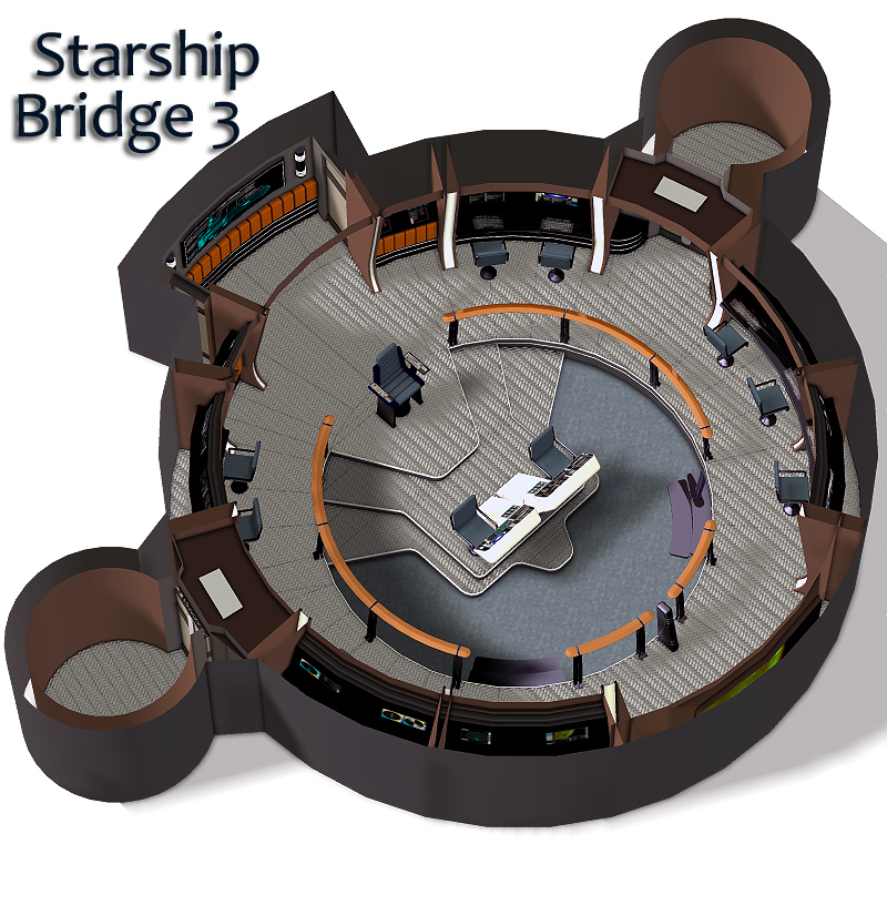 Starship Bridge 1, 2 and 3 by RPublishing
