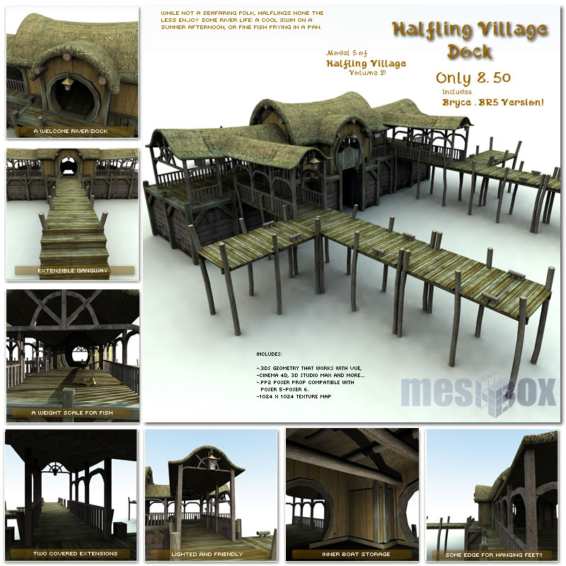 Halfling Village Dock (H1V205-3DS)
