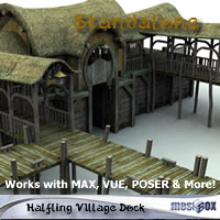 Halfling Village Dock (H1V205-3DS) 3D Models chikako