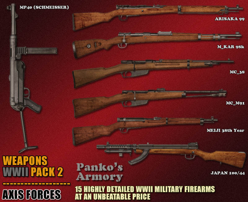 WWII Weapons -Pack 2_Axis Forces