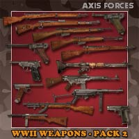 WWII Weapons -Pack 2_Axis Forces 3D Models panko
