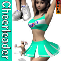 nekoja's Cheerleader for Aiko3 Clothing Software Themed nekoja