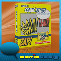 silver's Comic Kit #1 SFX & Balloons Themed 2D And/Or Merchant Resources RPublishing