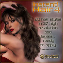 Instant! Hair 4 2D Graphics 3D Models ilona