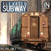 IN Elevated Subway by winnston1984