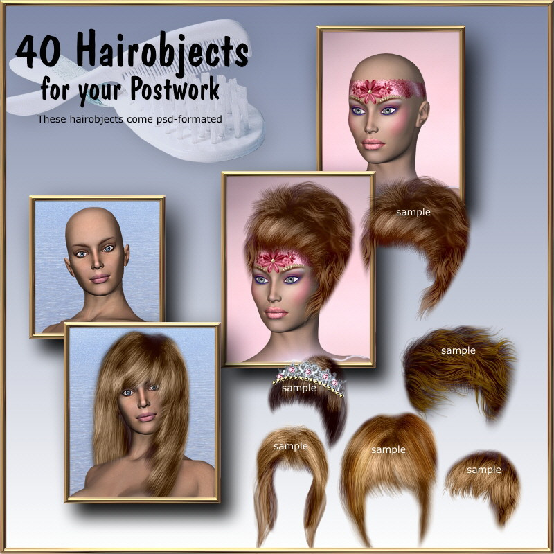 40 Hairobjects for your Postwork