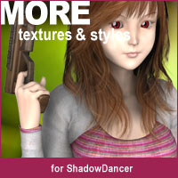 MORE Textures & Styles for Shadow Dancer 3D Models 3D Figure Assets motif