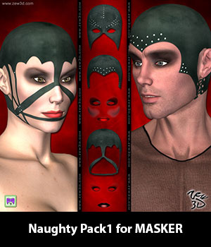 Naughty Pack1 for MASKER 3D Figure Assets zew3d