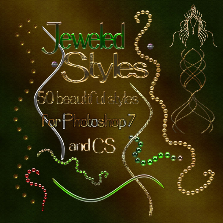 Jeweled Styles - PS7-CS
