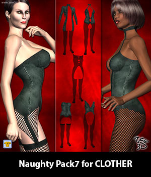 Naughty Pack7 for CLOTHER 3D Figure Assets zew3d