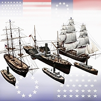 Ships Of The US Civil War 3D Figure Assets 3D Models the hankster