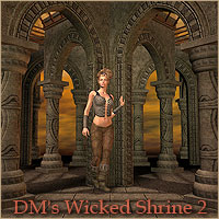 DM's Wicked Shrine 2 Props/Scenes/Architecture Poses/Expressions Themed Danie