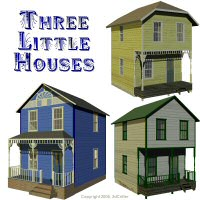 Three Little Houses 3D Models 3dCritter