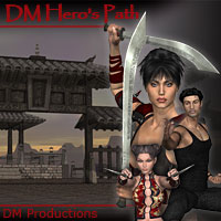 DMs Heros Path 3D Models 3D Figure Assets DM