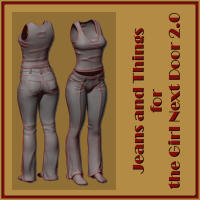 Jeans and Things for GND 3D Figure Assets Letterworks