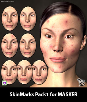 SkinMarks Pack1 for MASKER 3D Figure Assets zew3d