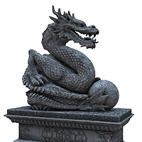 Asian Dragon Statues 3D Models the hankster