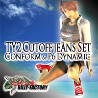 TY2 Cutoff Jeans set 3D Figure Assets billy-t