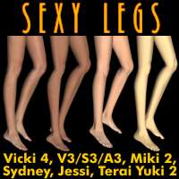 Sexy Legs 3D Figure Assets Dimension3D