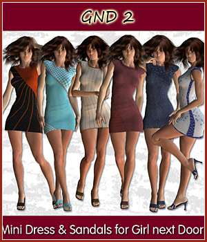 Mini Dress and Sandals for GND2 3D Figure Assets karanta