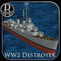 WW2 Destroyer Themed Transportation Props/Scenes/Architecture RPublishing