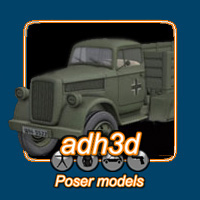 WWII blitz truck Themed Transportation adh3d
