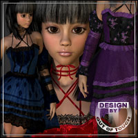 °Goth Princess° Texture Expansion for Gothic Doll 2 Outfit & Hair by aoaio  outoftouch
