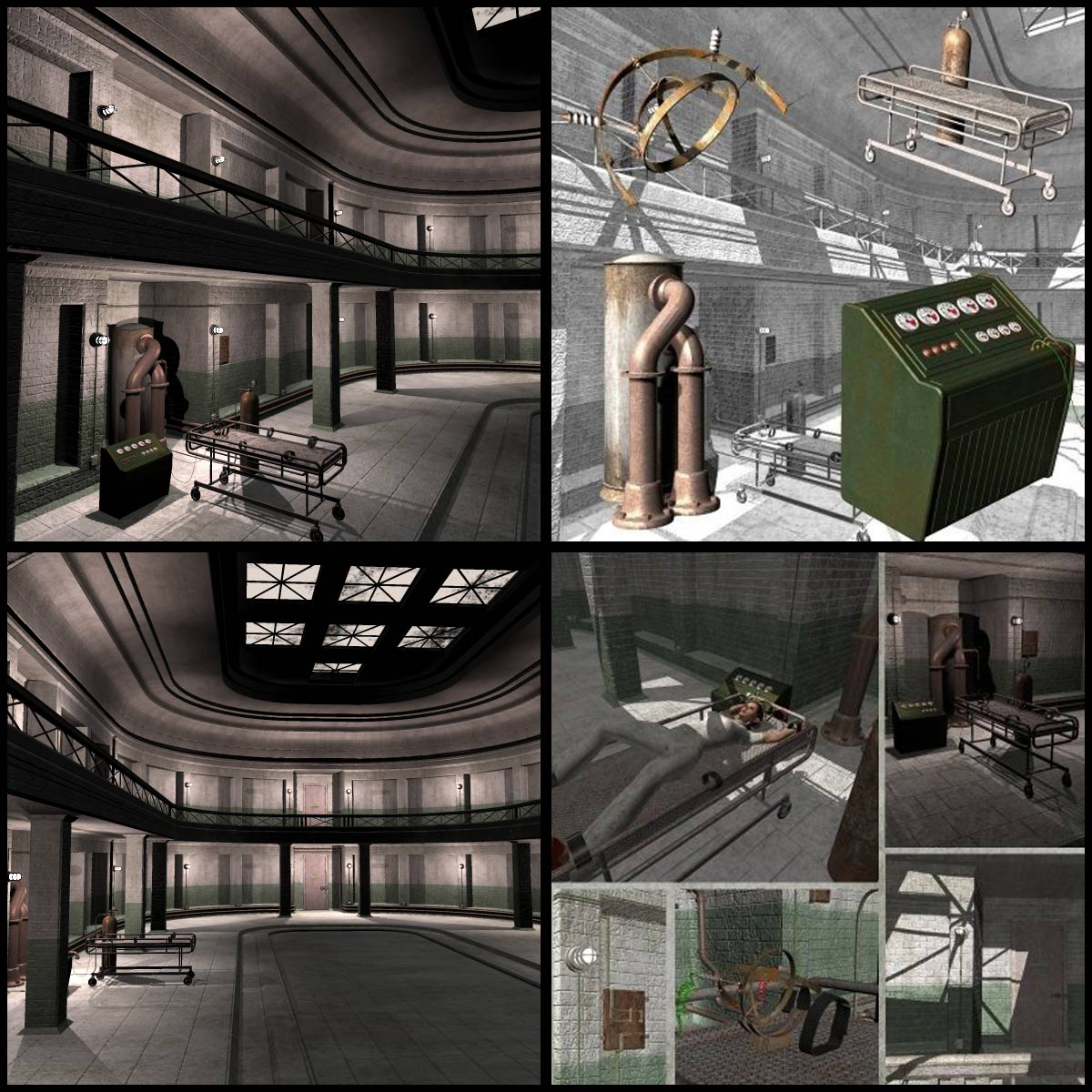 Eerie Asylum (Poser and Vue) by RPublishing