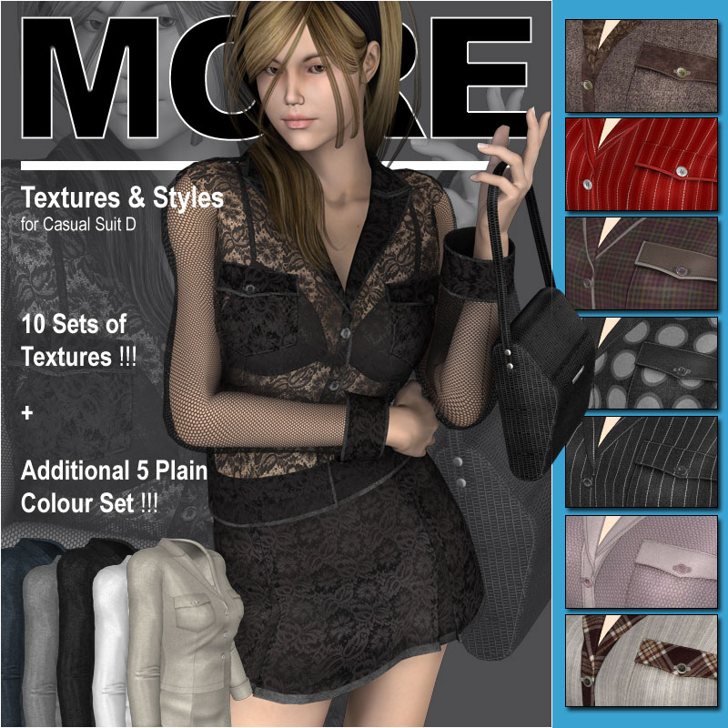 MORE Textures & Styles for Casual Suit D