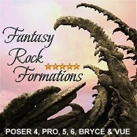 Fantasy Rock Formations 3D Models designfera