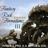 Fantasy Rock Formations 3 3D Models designfera