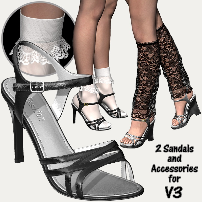 2 Sandals & Accessories For V3