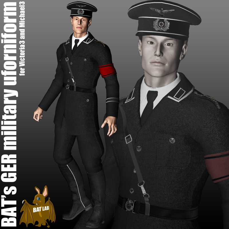 bat s ger military uniform 3d figure assets batlab